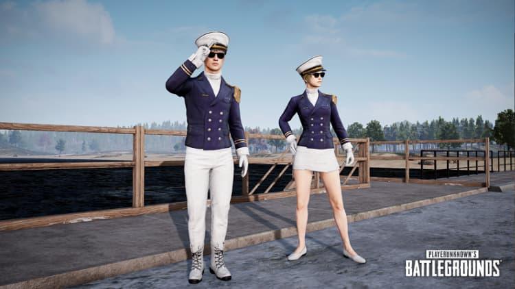 绝地求生海军军官制服套装图
