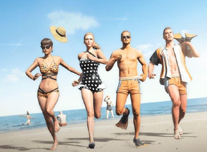 绝地求生夏日泳装图片1