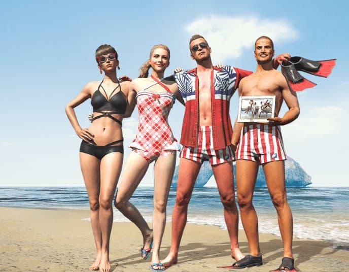 绝地求生夏日泳装